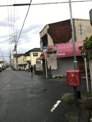 台風通過後の近隣の様子