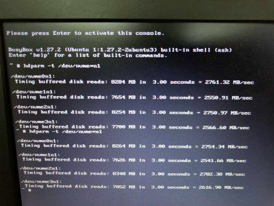 SSD1枚あたりの読み込み速度は約2600MB/sec
